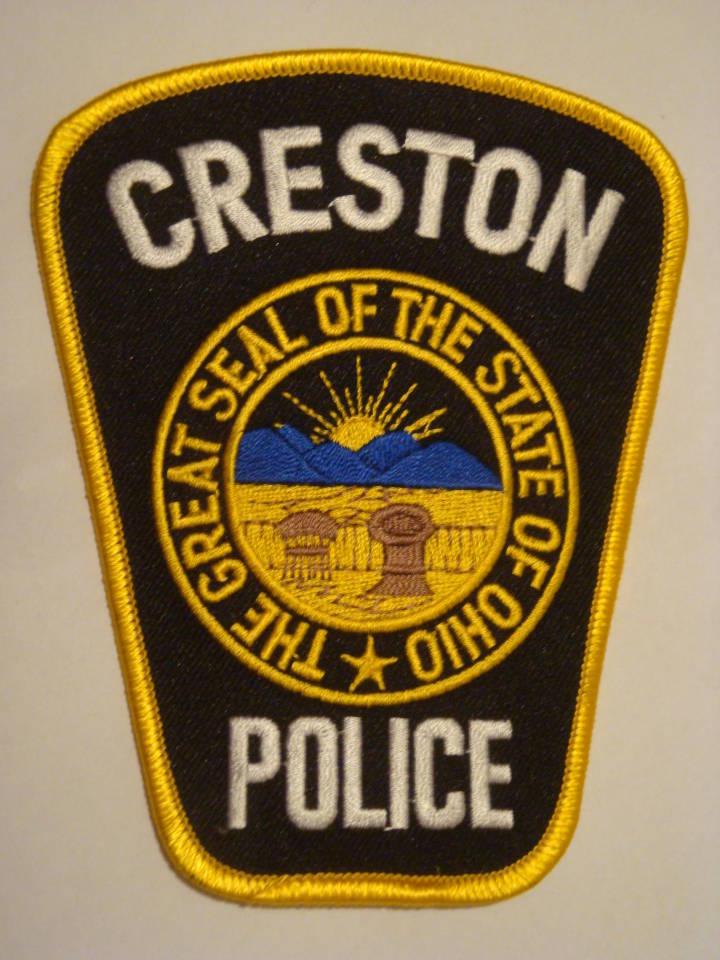 POLICE PATCH Creston OHIO