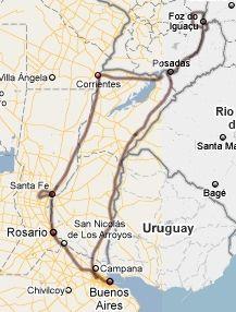 Einschließlich paraguay ud brasilien und wieder zurück ohne auto