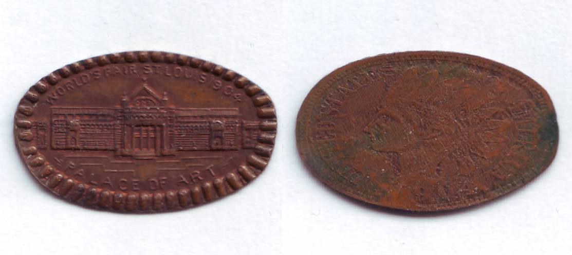 Souvenir Prägungen Elongated Coins Quetscher Fritt Aufkleber