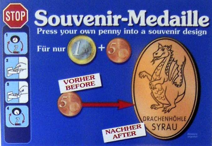 Souvenir Medaille Automat Standorte