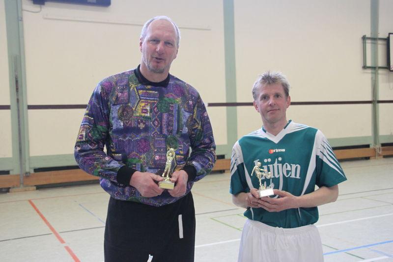 Bester Torwart und bester Torschütze des Turniers Detlef Krickemeyer und Willi Müller