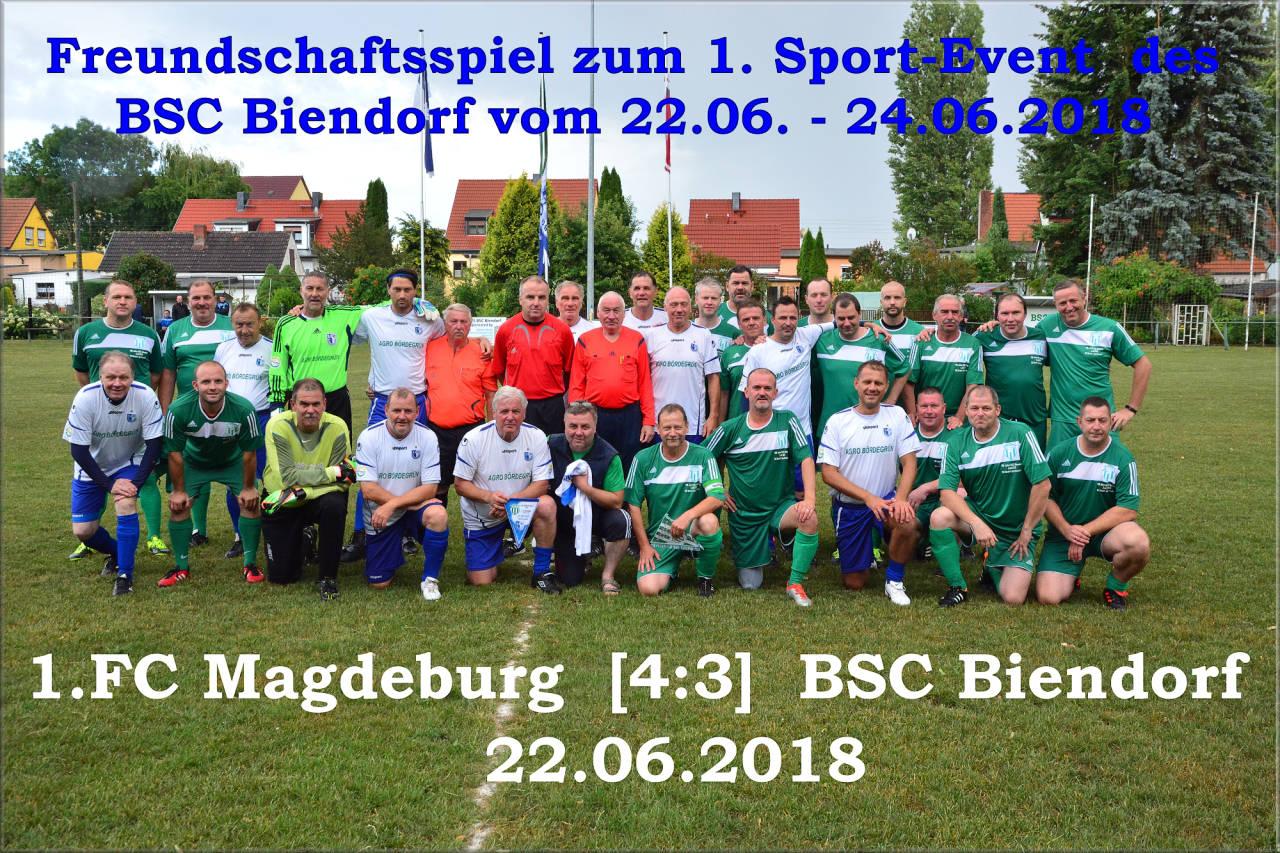 Oldies vom 1. FC Magdeburg und dem BSC Biendorf