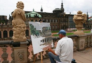Künstler im Dresdner Zwinger