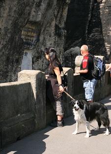 mit Bess auf der Basteibrücke