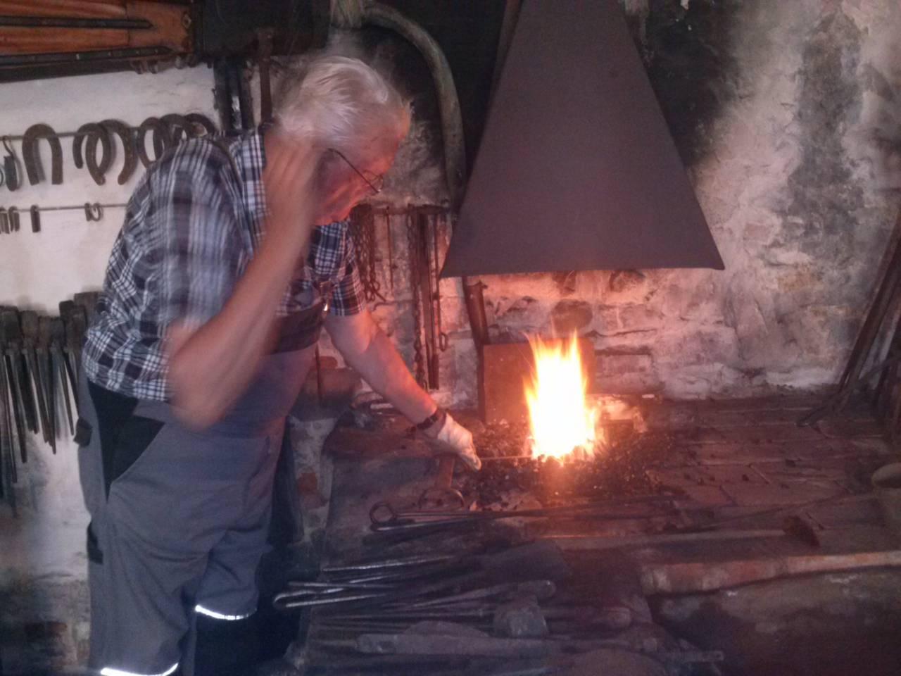 Feuereisen Feuerschläger schmieden, für historisches mittelalterliches Feuer,