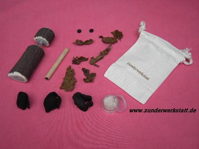 Pneumatisches Feuerzeug mit Zubehör