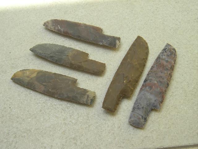 Steinzeit Messer groß Herstellung