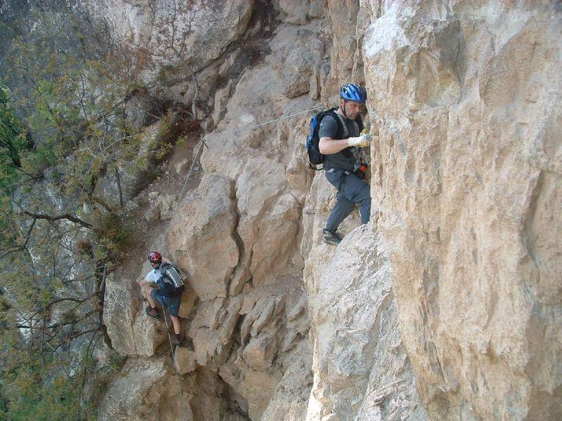 Matthias und Fritz am Mori Klettersteig