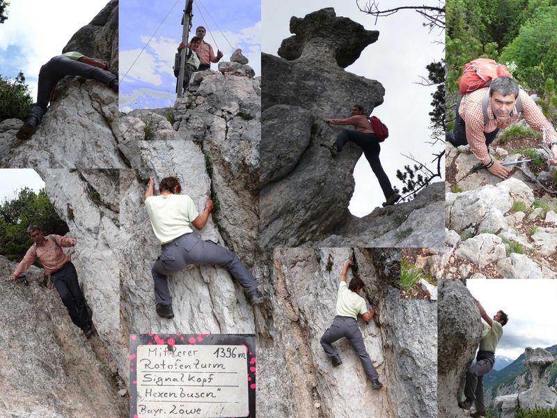 leichte Kletterei auf