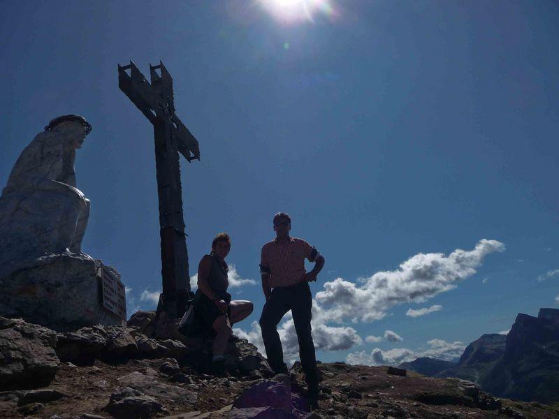 Gipfel am Passo Rosso