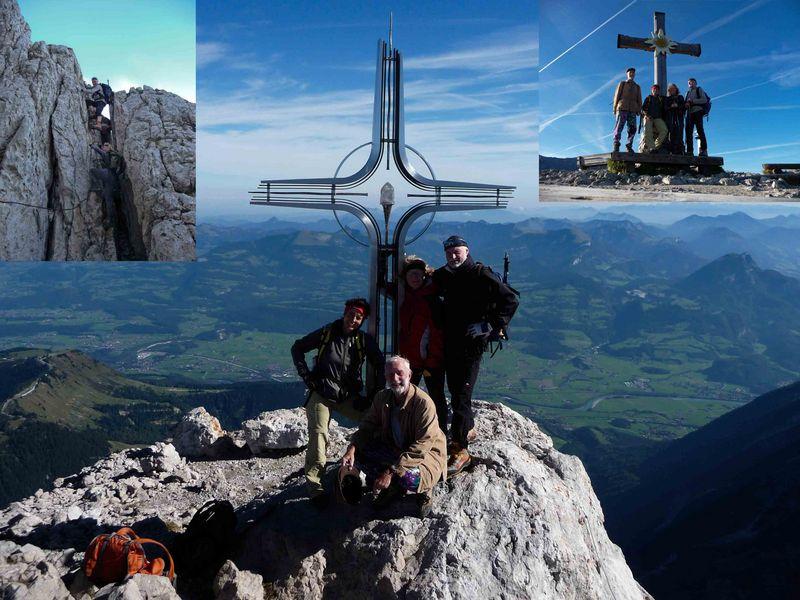 Aufstieg und Gipfelsieg am Göll