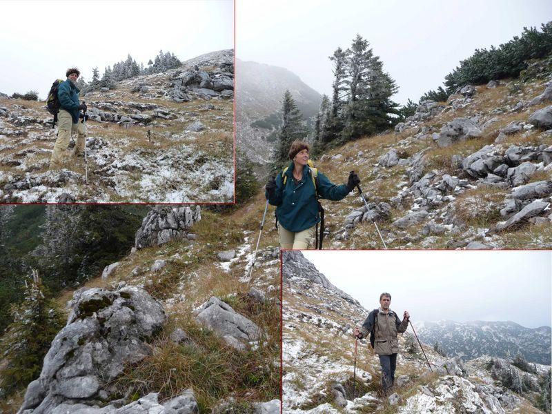erster Schnee am Schafluckensteig