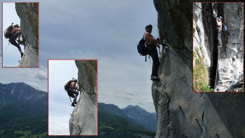 Drei heimische Klettersteige