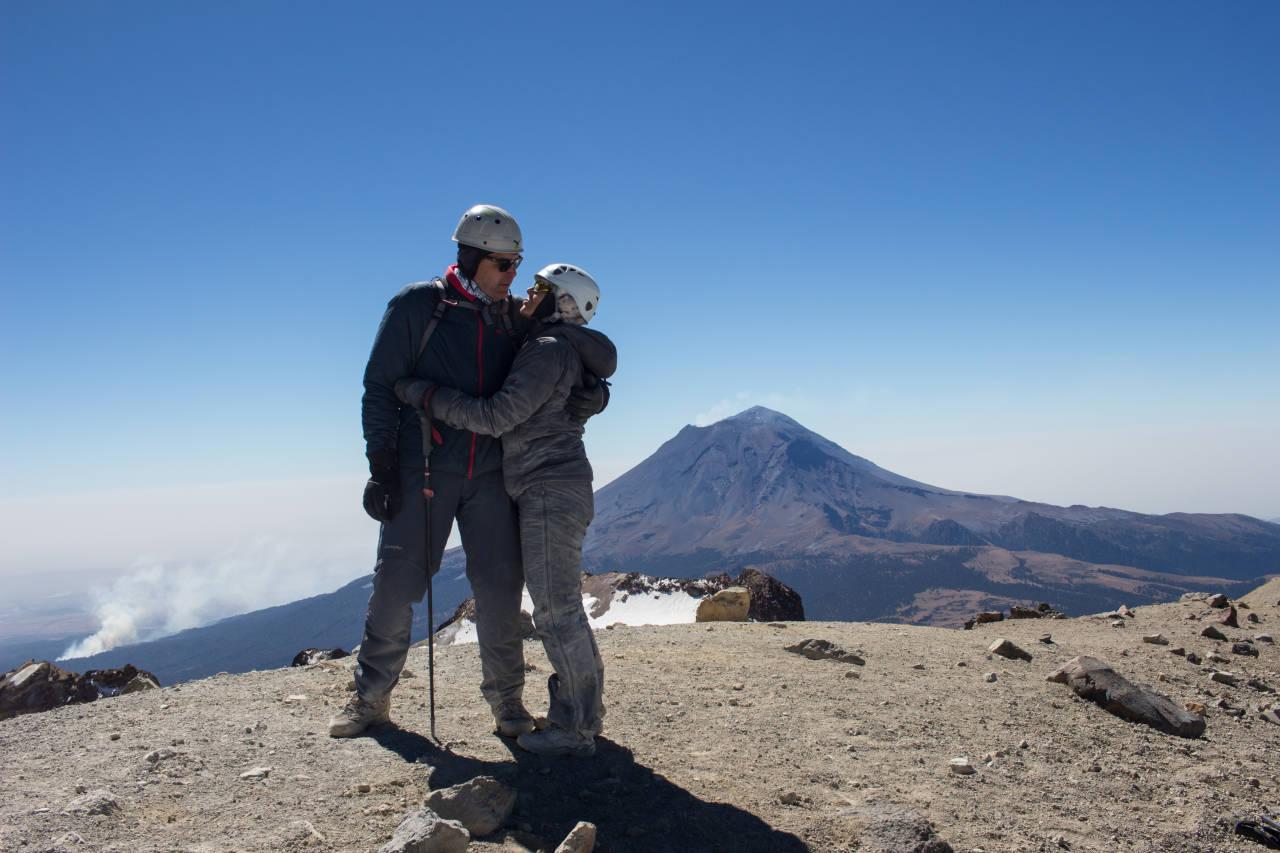 auf dem Itztacihuatl 5230m, nach 8h im Aufstieg; Angels Worte; behinder ...