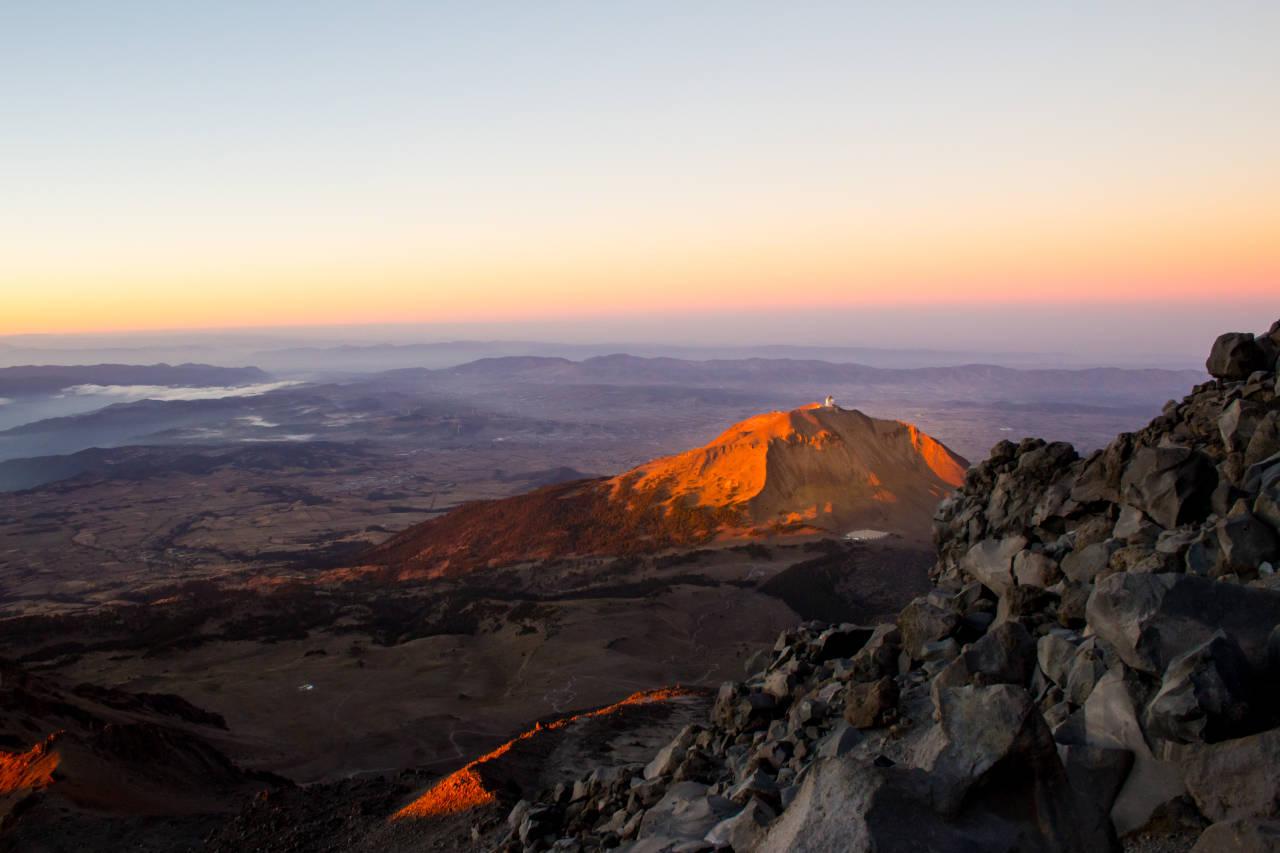 Sonnenaufgang am Orizaba ca auf 4700m