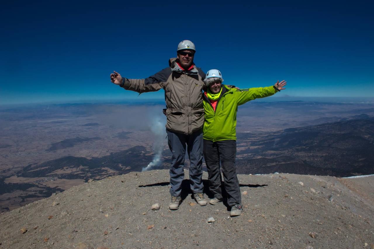 Am Gipfel des Orizaba, 5650m