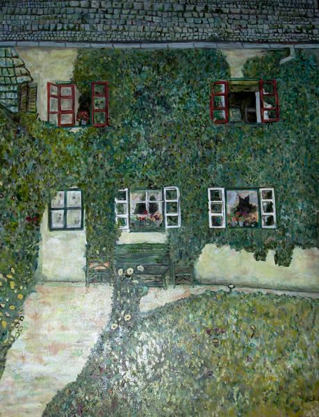 Forsthaus in Weißenbach ebenfalls ein Klimt und wieder für meine beste Freundin aber diesmalm in Öl