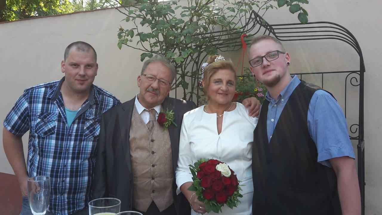 Unsere Trauzeugen mein Sohn Ronny und Maria`s Sohn Martin