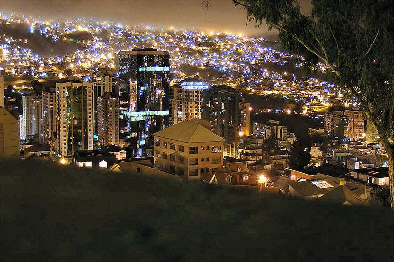 La Paz in der Silvesternacht