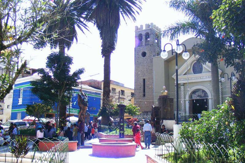 Die kleine Plaza in Coroico