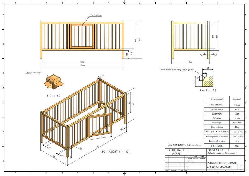 gitterbett selber bauen wk85 hitoiro. Black Bedroom Furniture Sets. Home Design Ideas