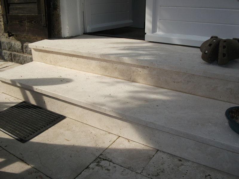 Treppe Travertin antik