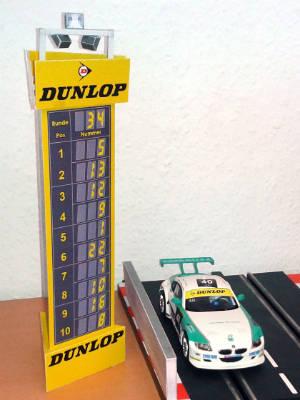 Positionsanzeige Dunlop-Kehre