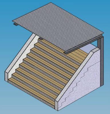Tribüne mit Dach