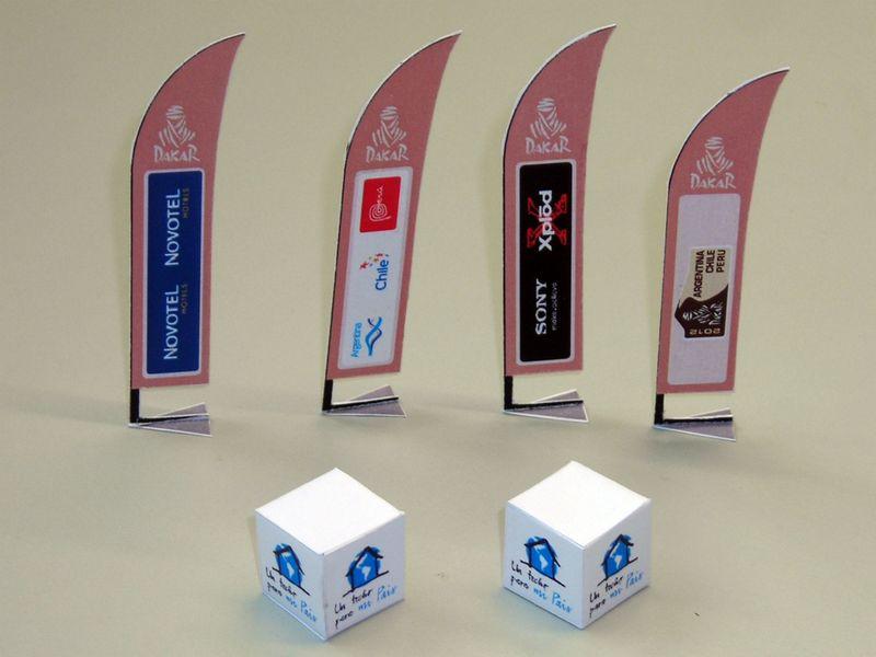 DAKAR-Beachflags und Werbewürfel
