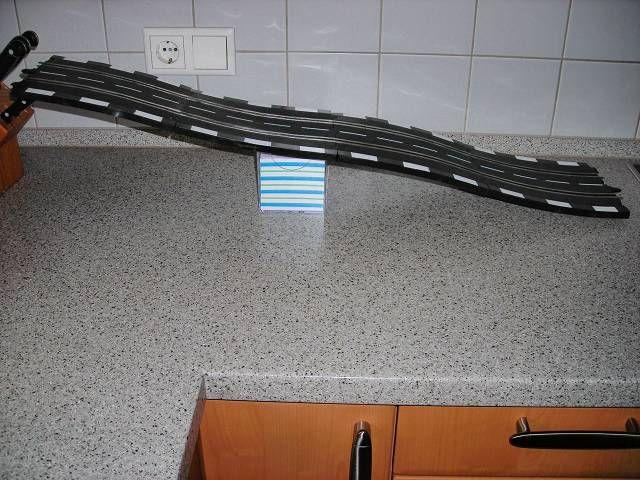 Schienen gebogen