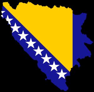 Bosnien auf der Europakarte
