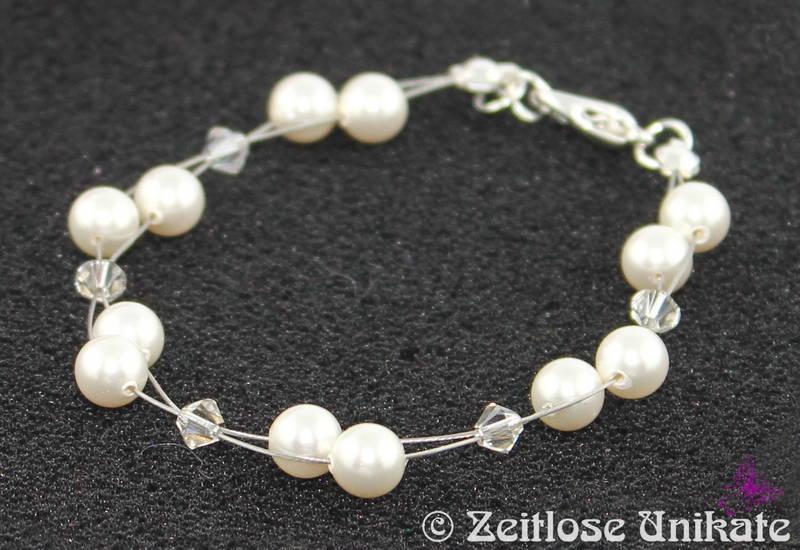 Brautschmuck set schlicht  Brautschmuck - Luftig, filigranes Brautarmband - schlicht und elegant
