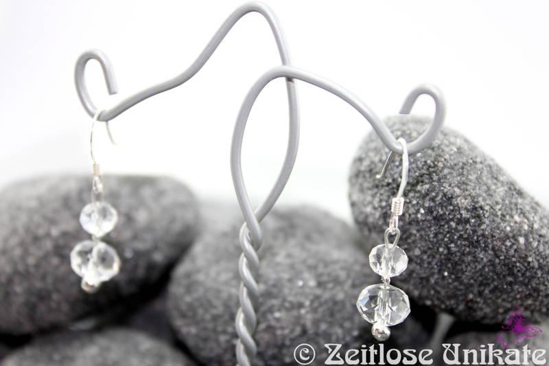 Brautschmuck ohrringe schlicht  Brautschmuck - Shining, wunderschöne zarte Ohrringe mit ...