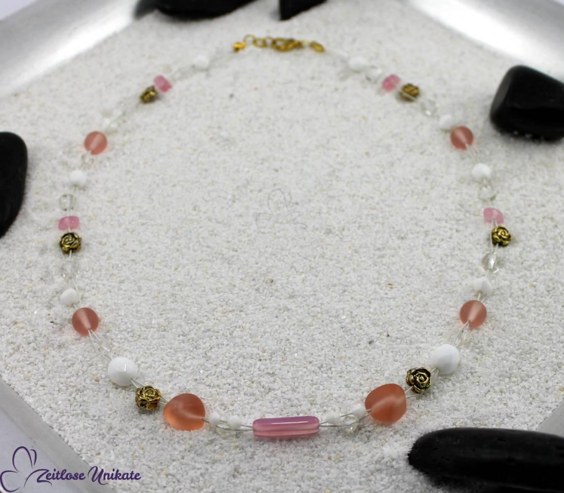 Mittelalterlicher Brautschmuck - Halskette Hochzeit, Brautkette Elfe