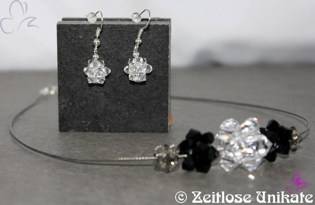 schöne Ohrringe aus Kristallen