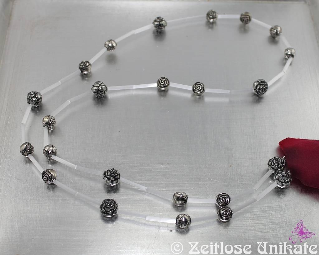 romantische Brillenkette mit Rosen