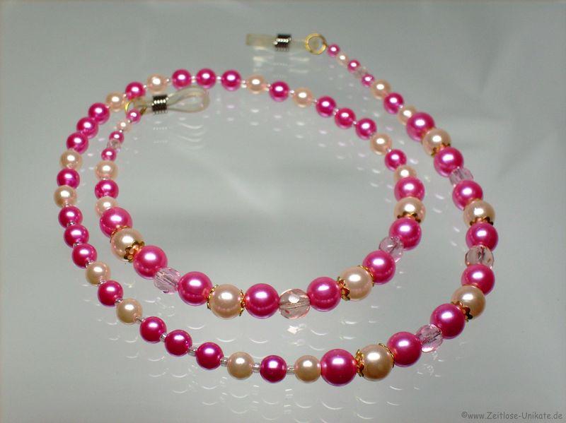 Brillenkette rosa