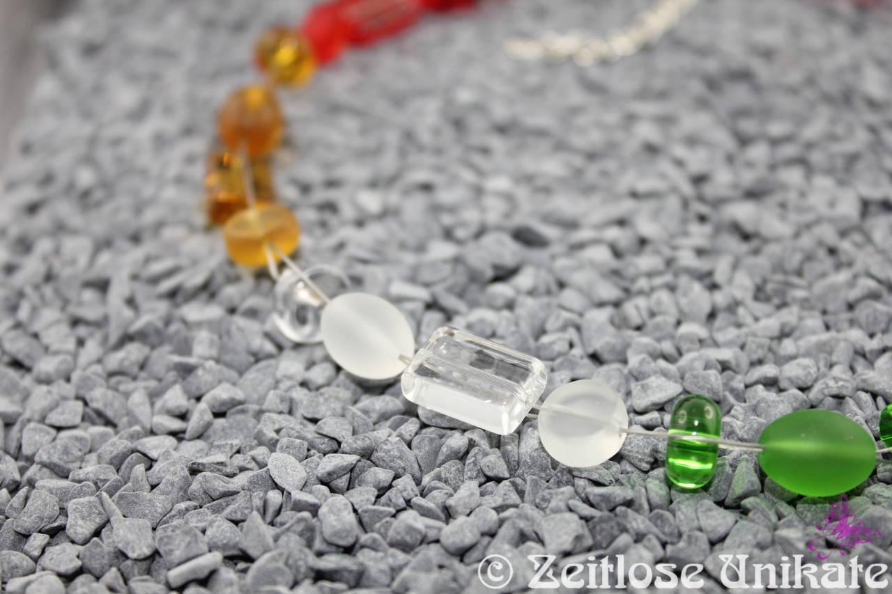 Regenbogen Glasperlenkette