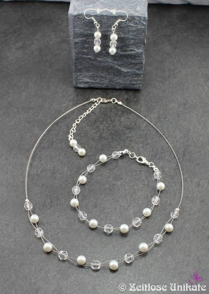 Brautschmuck kette dezent  Halskette für die Braut - schlichter Brautschmuck, dezent, elegant ...