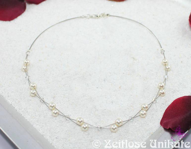 Brautschmuck neckholder  Brautschmuck - Luftig, filigrane Brautkette für Neckholder ...