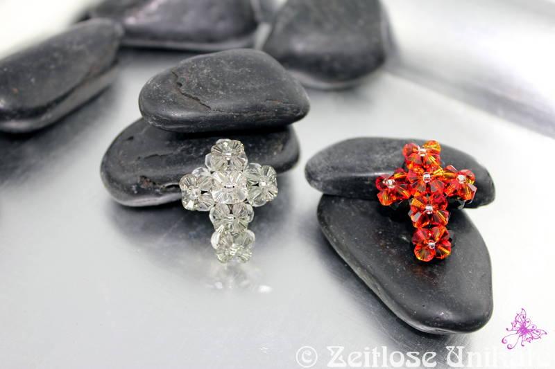 hochwertiges Perlenkreuz, glitzer funkel, kleine Kostbarkeit