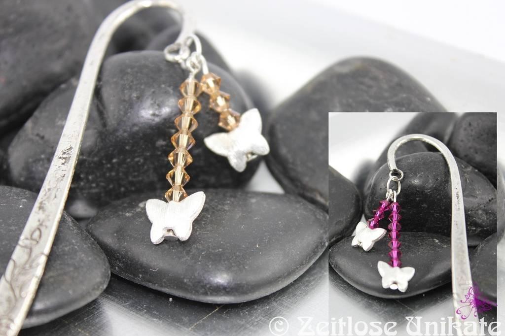 Lesezeichen mit Swarovski® Xilion Beads auch in anderen Farben möglich