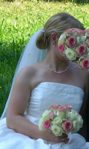 schulterfreies Brautkleid Herz Dekoltee