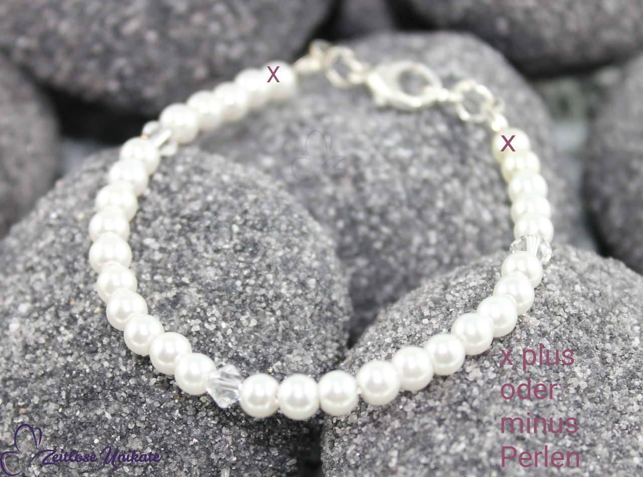 Brautarmband mit kleinen Perlen