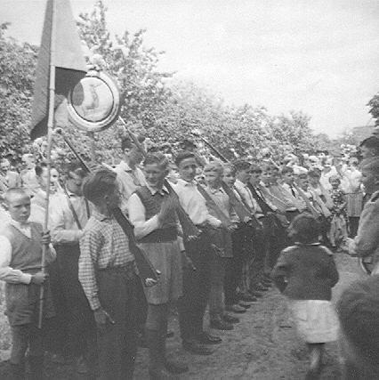 Schützenfest 1960 - Antreten