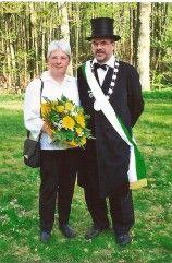 Schwarzer König Hans-Günther Kuers und seine Frau Gerlind
