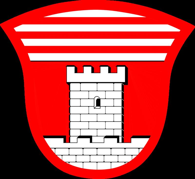 Das Wappen der ehemals selbstständigen Gemeinde Rothenstadt / Oberpfalz - heutiger Stadtteil von Weiden / Oberpfalz