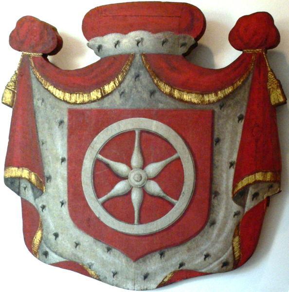 Kurmainzische Wappentafel aus der Mitte des 18ten Jhrhts -  ca 1750  - Oel auf Holz