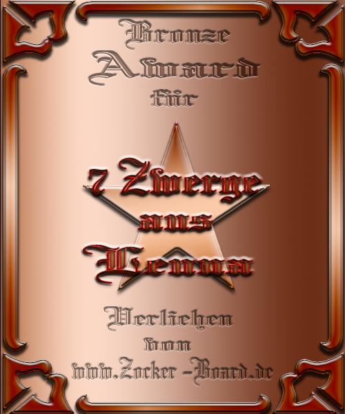 Bronze Award der 7 Zwerge aus Luna