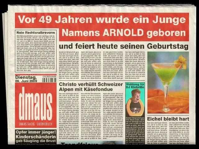 Arnold Geburtstag